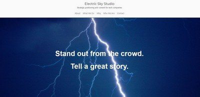 electric sky studio home page