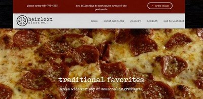 heirloom pizza home page