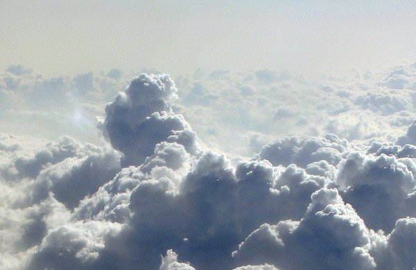 cumulous clouds in sky
